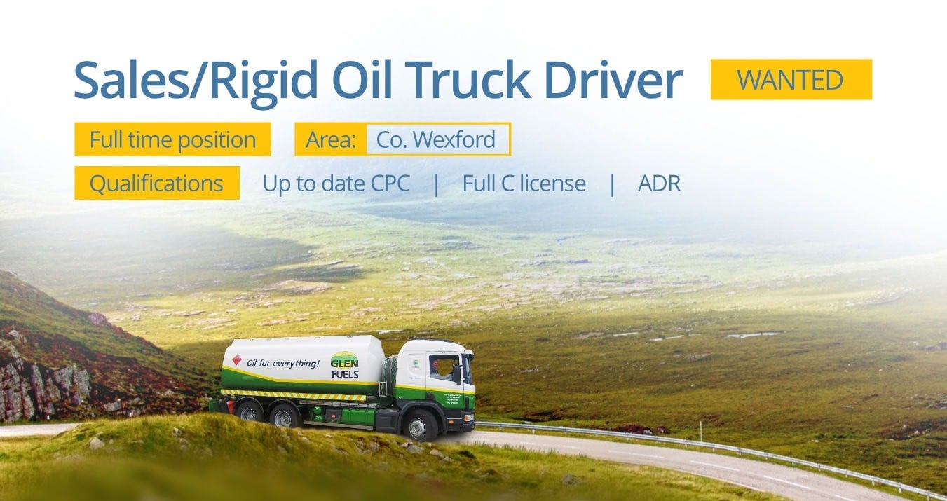 Glen Fuels - Hiring Lorry Drivers in Co. Wexford
