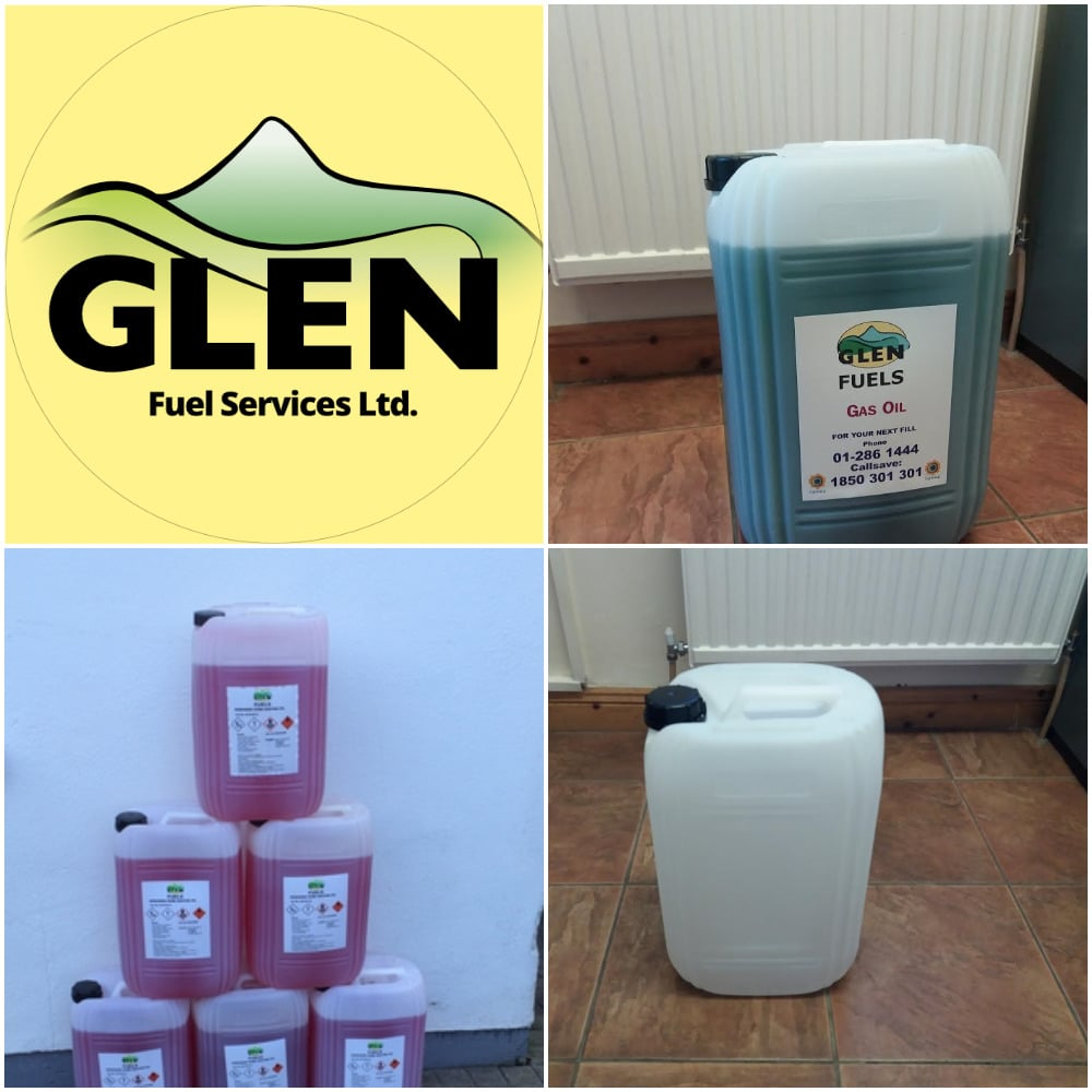 Gas Oil and Kerosene 20L drums for emergencies or small boilers available at Glen Fuels depots