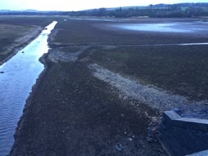 Vartry Reservoir, Roundwood, Co Wicklow - badly in need of a fill